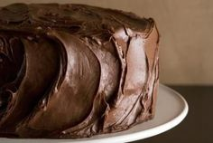 Chocolate Sour Cream Cake with Chocolate Frosting Recipe