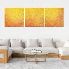 Ivana Olbricht | Slovak abstract artist Dark Interiors, Triptych, Abstract Paintings, Orange, Yellow, Minimalist, Artist, Tri Fold Brochure, Artists