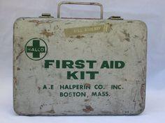 Vintage metal first aid kit Halco of by MidModandMorganstern, $15.00