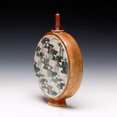 Schaller Gallery : Exhibition : Boxes & Bottles - : John Bedding : Secret Garden Bottle