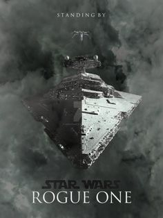 """With the announcement of a new """"Star Wars"""" spin-off, I wanted to make a fan poster. I wanted to make it simple and incorporate obvious aspects, ie a fighter versus a huge enemy starship."""