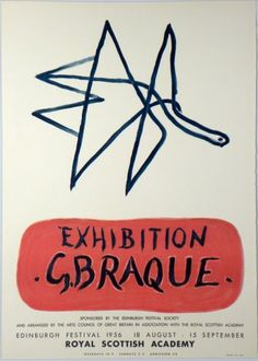 Artist Georges Braque title G. Braque Exibition technology Color lithograph