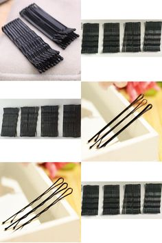 [Visit to Buy] 120PCS Hair Accessories Hair Clips for Women Ladies Hair Pins Invisible Curly Wavy Grips Salon Barrette Hairpin Black Barrette #Advertisement