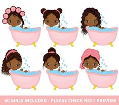 90 Little Spa Girls Clipart Vector Spa Spa Party Clipart image 2