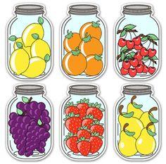 Jar Labels, Food Labels, Mason Jar Tags, Activities For Kids, Crafts For Kids, Flashcards For Kids, Alphabet Templates, Diy Barbie Furniture, Fall Preschool