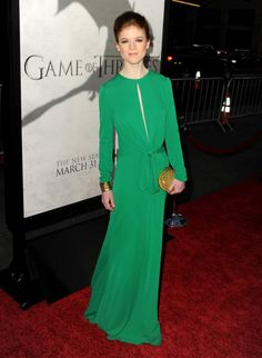 I love Rose Leslie.  This dress is just stunning in its simplicity. Now if it had an open back that would be perfect.