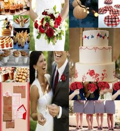 Americana Picnic Wedding inspiration board