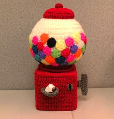 Gumball Machine Tissue Cover/Pattern in Toyland Tissue Cover Crochet Patterns from Annie's Attic
