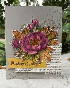 Birthday Blooms, colorful seasons, flourish thinlits, gorgeous grunge, thoughtful branches, Stampin' Up! by Nance Leedy
