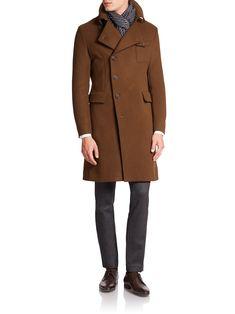 Image result for giorgio armani virgin wool military coat