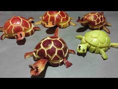 Art In Watermelon Turtles - Fruit Carving Garnish - Party Garnishing - Food Decoration - YouTube