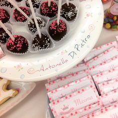 Cakepops y chocolates personalizados #candyBar #babyshower #birthday