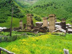 These meadows were abundant. Ushguli and the Svan towers. Svaneti, Georgia. Photo by Irene Uhlemann