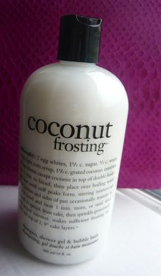Make your shower delicious with Philosophy Coconut Frosting. #coconut #heaven