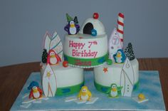Club Penguin cake~For Johnny just needs an 8