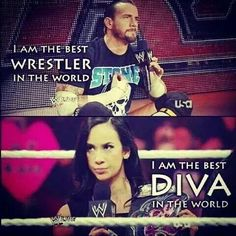 put them together, best couple in the world. Cm Punk & AJ Lee
