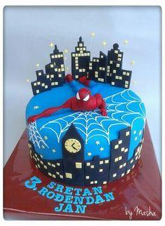 Spiderman cake design   www.mildicasdemae.com