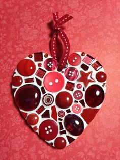 RED Valentines Heart DIY Mosaic Kit by Lily Mosaics