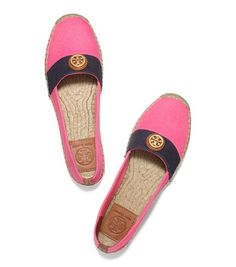 navy and pink espadrilles