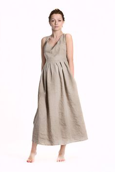 Alice B Classic Linen Summer Dress by alicebmaternity on Etsy, €48.00