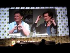 """Steven Moffat on the Doctor's name. He's pure evil. Matt Smith is one of us!!! he wants to know as badly as we do""    Matt: ""Welcome to our life -  a succession of Steven knowing information, having the power to withhold it, and smiling at us!"" :)"