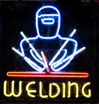 Custom Neon Window Signs  Welding