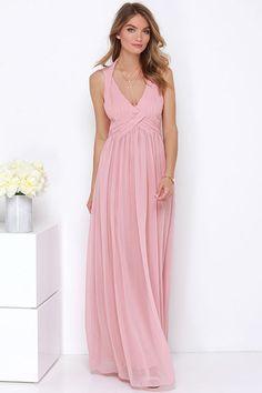 Strike a Minerva Dusty Pink Maxi Dress at Lulus.com!