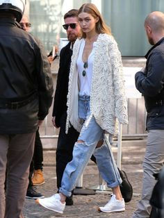 """thetrendytale: """"MORE FASHION AND STREET STYLE"""" #GigiHadid"""