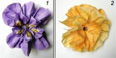 Nifty Napkin DIY Paper Flowers