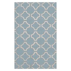 I pinned this Zuna Rug in Light Blue from the Marston