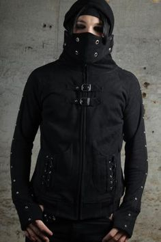 Poizen Industries - Mens MX Hood - Black | Poizen Industries | Poizen Industries | CLOTHING BRANDS | Web Shop | £44.99 | New Rock Gothic Clothing - Rocky Horrors