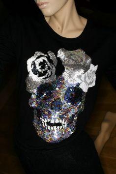 ☆ Rock 'n' Roll Style ☆  Markus Lupfer sequin skull jumper