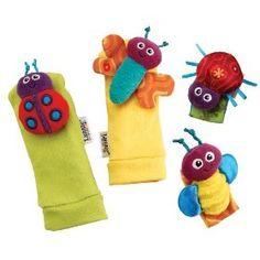 Lamaze Garden Bug Wrist Rattle/Foot Finder Set, (baby toys, rattle, baby stuff, baby toy, feet finders, hand finders, toddler toys, baby, baby einstein, hand)