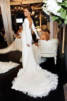 Wedding dress by Steven Khalil