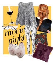 """""""#movienight"""" by lindacorp on Polyvore featuring Riedel"""