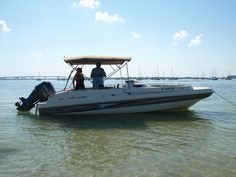 A Cannons Marina rental boat on Sarasota Bay. What a great day!!
