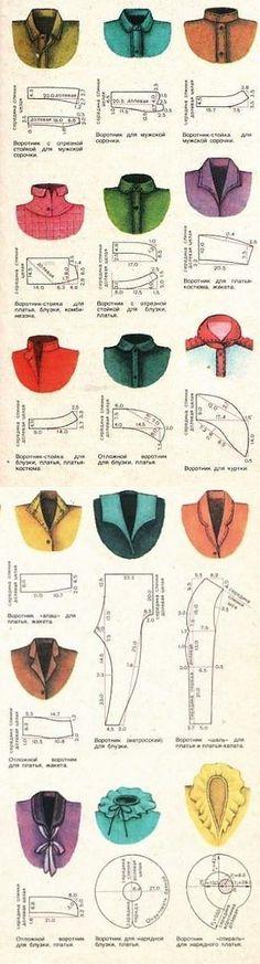 Shirt collar styles & shapes Крой и МОДЕЛИРОВАНИЕ ВОРОТНИКОВ..   Шьём сами   Постила
