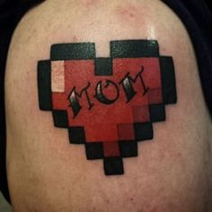 This 8-bit classic: | 16 Beautifully Touching Tattoos That Honor Moms