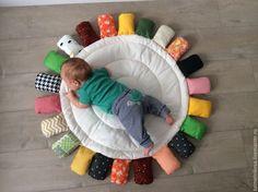 Купить Развивающий коврик Монтессори - разноцветный, развивающий коврик, коврик для детской, Монтессори, кокон для новорожденного