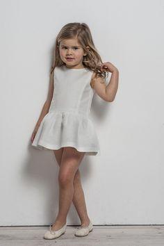 White linen dress - Sainte Claire