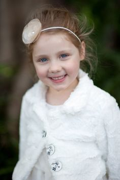 ❀ Fanciful Flower Girls ❀ dresses & hair accessories for the littlest wedding attendant :-)  winter wedding