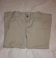 Children's Place Beige Chino Casual Adjustable Waist Boy's Pants Size 7 | eBay