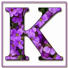 """Free Scrapbook Alphabet Letters """"Purple Flowers"""" in JPG & PNG For this project I used my own alphabet """"A,"""" a Photoshope font, and a backg. Purple Love, All Things Purple, Shades Of Purple, Purple Flowers, Plum Purple, Felt Crafts Patterns, Alphabet And Numbers, Alphabet Letters, Printable Alphabet"""