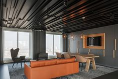 Metal Ceilings - Linear - + CCA from Hunter Douglas Architectural (Europe) Types Of Ceiling Boards, Types Of Ceilings, Hunter Douglas, Function Hall, Metal Ceiling, Design Development, Window Coverings, Rotterdam, Fun To Be One