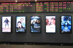 Affiches de films en digital signage