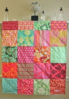 Baby Quilt  Modern Blanket for Baby Girl in by FernLeslieBaby, $89.00
