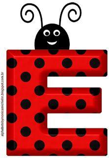 Ladybug Crafts, Ladybug Party, Fancy Letters, Banner Letters, Festa Lady Bag, Scrapbook Da Disney, Cumpleaños Lady Bug, Apple Picture, Alien Drawings