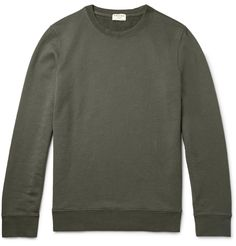 <a href='http://www.mrporter.com/mens/Designers/Frame_Denim'>Frame Denim</a>'s sweatshirt will make a useful addition to your year-round casual roster. Made from army-green cotton-jersey with a soft looped backing, this dependable piece is cut for a relaxed fit and has ribbed trims for added flexibility. Layer it over a simple tee for trips to the gym and easy-going days alike.