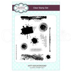 Creative Expressions Stamp Set by Lisa Horton - Arty Background