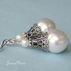 Vintage Inspired Pearl Earrings by JaniceMarie on Etsy, $18.95